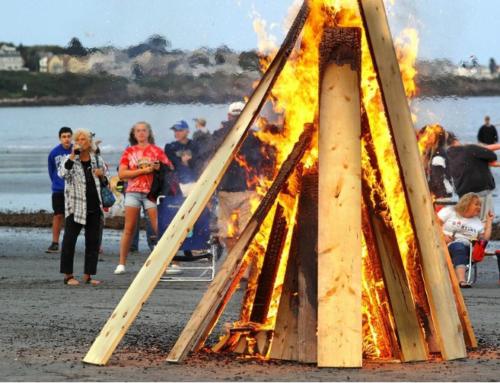 Beach bonfire supports YCSA